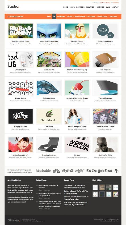 Studeo: Creative Agency个人主页&商业wordpress主题-WP迷死