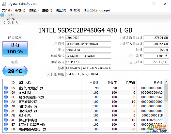 CrystalDiskInfo v7.7.0硬盘状态检测工具-WP迷死