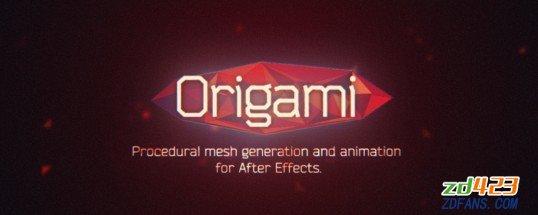 MG折纸网格动画脚本 Aescripts Origamit v1.2.1 win/mac+使用教程(AE脚本)-WP迷死