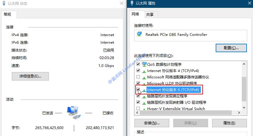 新版Windows 10若禁用IPv6协议则可能无法正常联网-WP迷死