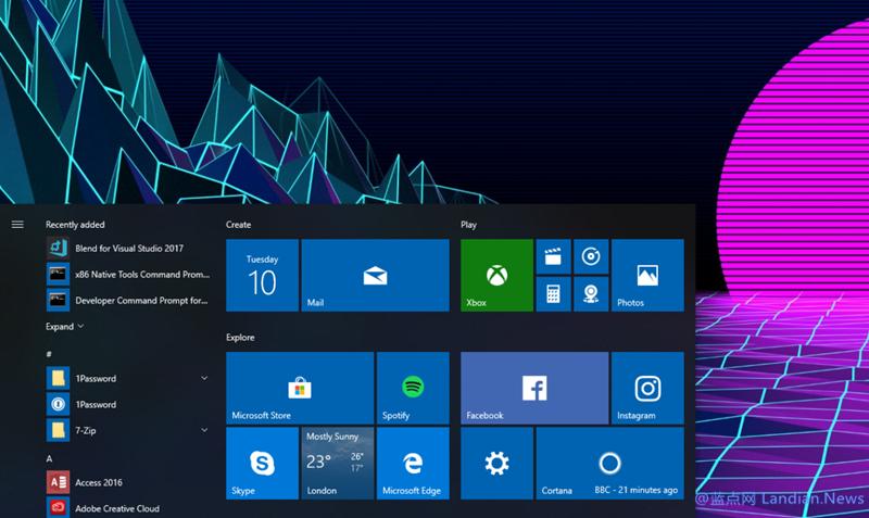 微软面向周年更新版发布KB4343884号累积更新