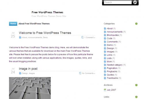 WordPress黑白日志主题-Silver Fox v1.0-WP迷死