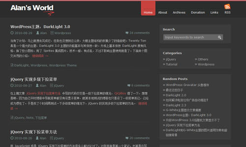 WordPress主题:DarkLight 3.0-WP迷死
