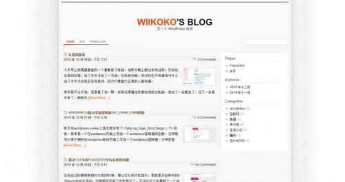 WordPress简单快速主题Wiikoko2-WP迷死