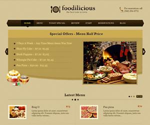 WordPress餐饮业黄色主题:Foodilicious-WP迷死