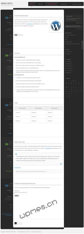 WordPress日语主题monochrome 3.1-WP迷死