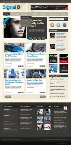 WordPress主题Signal 8 Magazine v1.2-WP迷死